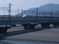 安倍川と新幹線