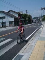 興津の街を抜ける