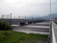 安部川の流れ