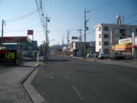 交通量の少ない市街