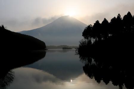 2012年春の田貫湖ダブルダイヤモンド富士