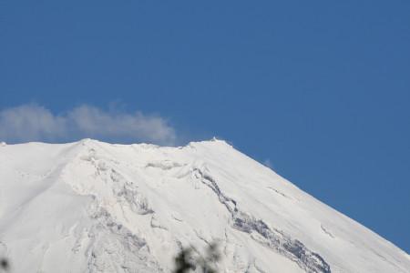 快晴の日の富士山頂