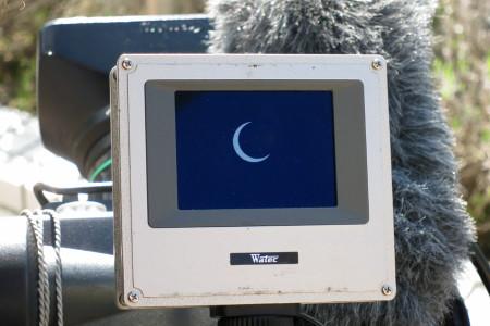 ビデオカメラモニタの日食
