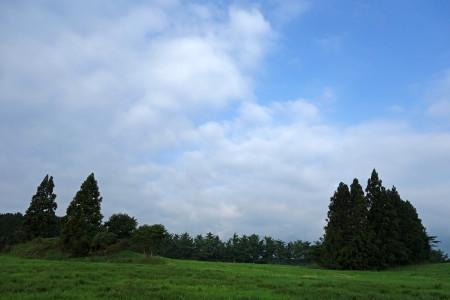 朝霧高原の風景