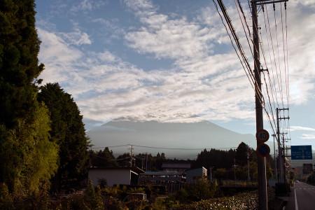 富士山に雲が