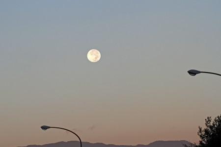 10月1日明け方の月