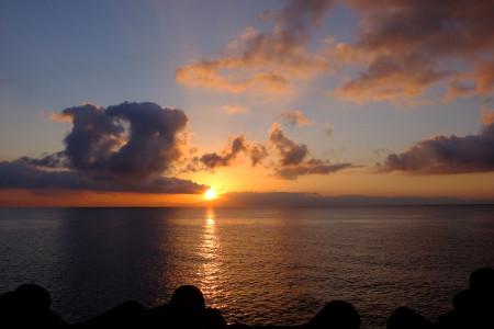 駿河湾の夜明け