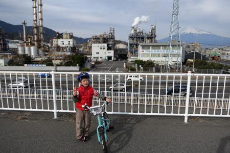 工場萌富士山と息子