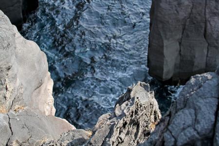 城ヶ崎海岸岩場からの光景