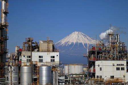 工場萌え富士山
