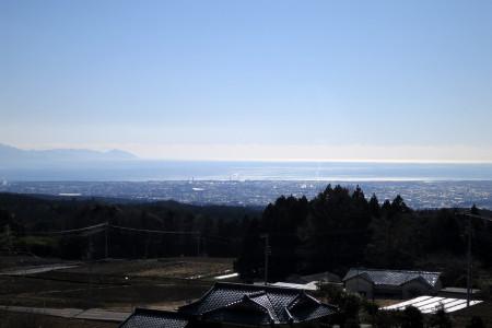 富士宮・富士市街と駿河湾・伊豆半島