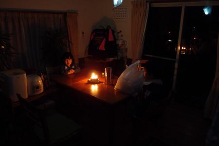 東日本大震災の夜
