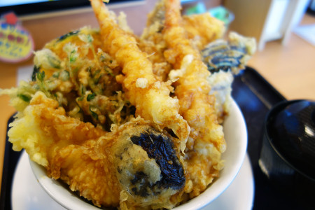 漁師のガッツリ天丼