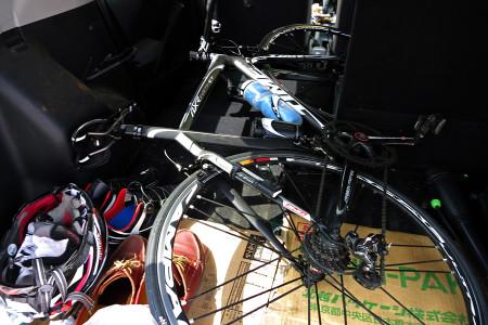 自転車を搭載