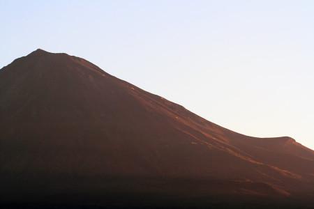 9月27日朝の赤富士