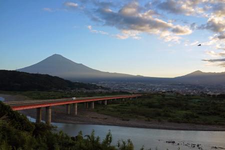 富士川S.A.からの富士山