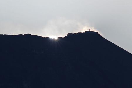 10月27日のダイヤモンド富士(望遠)