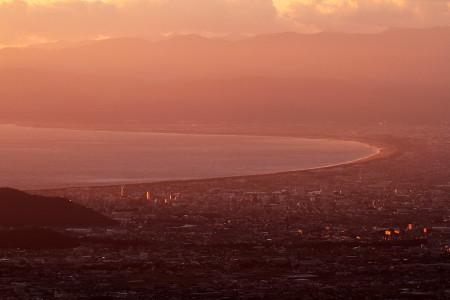 沼津~富士市の夕景