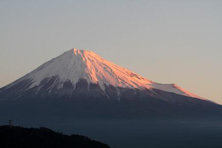 16日朝の富士山