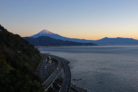 薩埵峠からの富士山と駿河湾