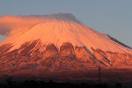 12月20日夕方の富士山