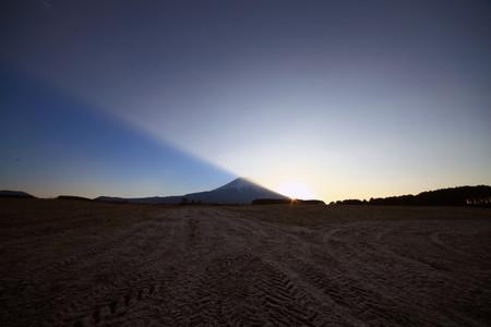 元旦の富士山と日の出