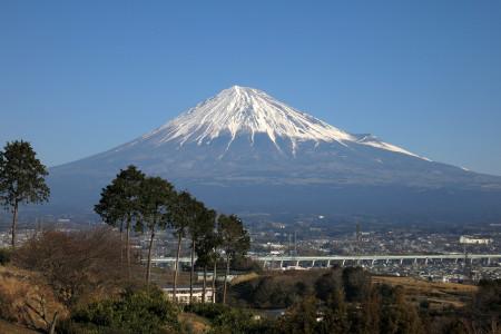 富士山と市街地
