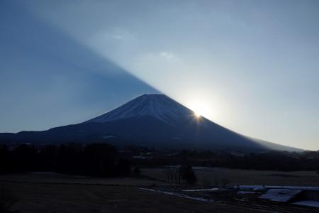 富士ヶ嶺での初日の出