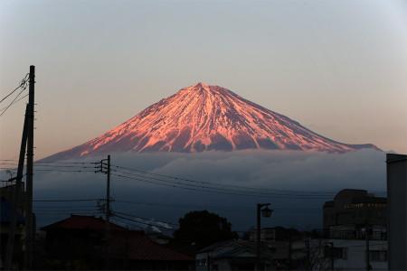 16日夕方の富士山