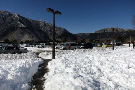 2014年2月9日の道の駅朝霧高原