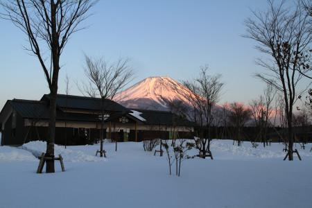 17日夕方の富士山