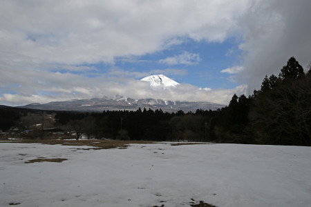 束の間の富士山
