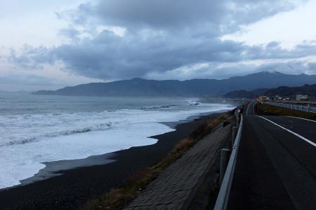 駿河湾の高波