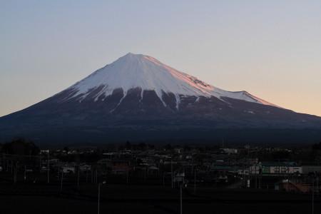 3月22日朝の富士山