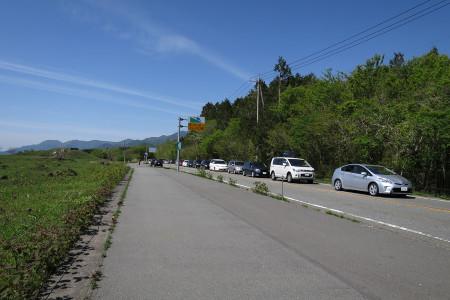 県境付近の渋滞