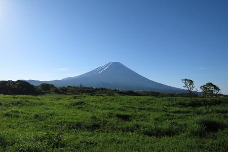 根原県境付近の富士山