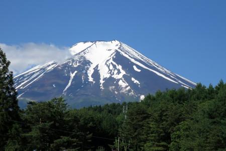 河口湖方面からの富士山