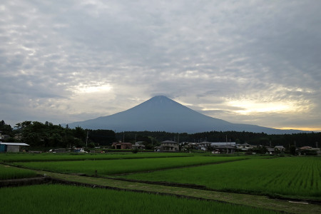 北山付近からの富士山と雲
