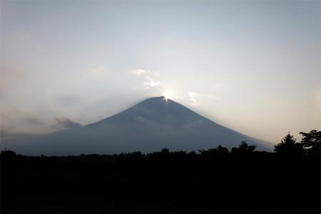 7月20日のダイヤモンド富士