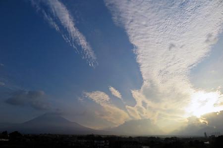 7月28日の富士山と空