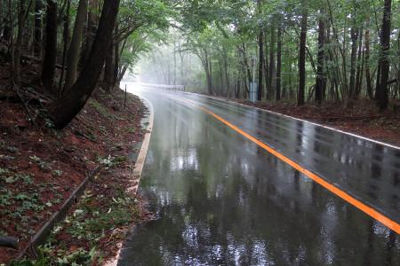 雨の県道71号