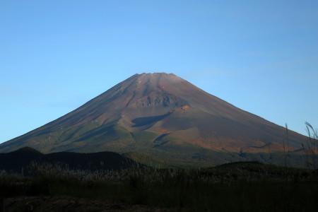 忠ちゃん牧場そばからの富士山