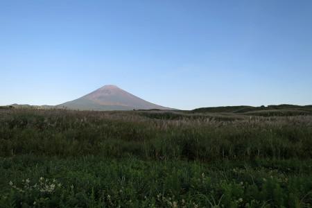 演習場と富士山