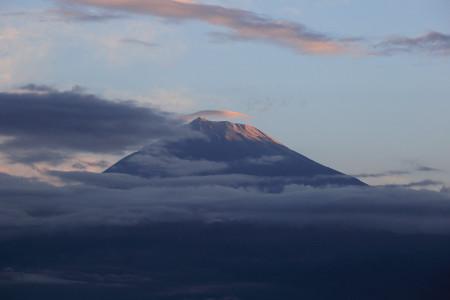10月15日私的初冠雪の富士山