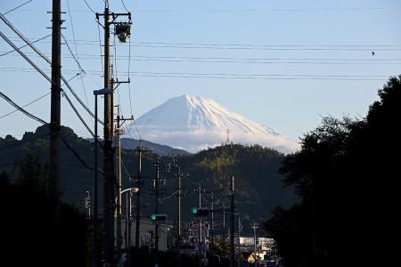 静岡市清水区からの富士山