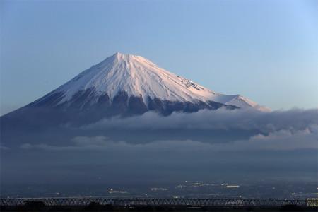 27日朝の富士山