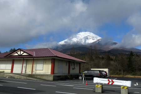 見事な富士山が見えました!
