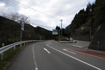 国道136号旧道との分岐
