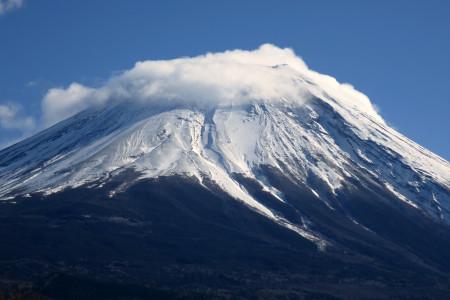 富士山の雪煙