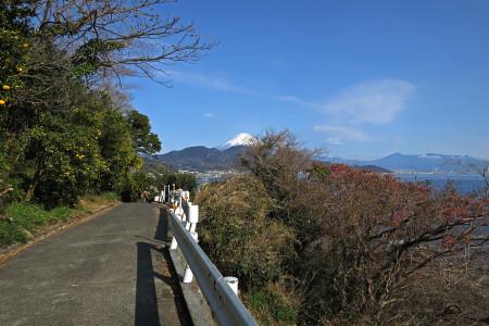 薩た峠への坂途中からの富士山